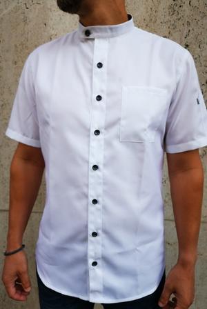 košilový rondon pro kuchaře bílý