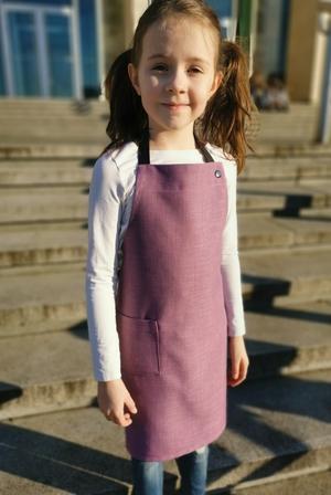 dětská zástěra koženkové poutko