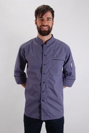 Košilový rondon nemačkavý švestkové barvy