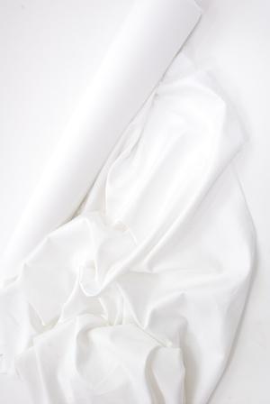 Ubrusy bílé z bavlněného damašku