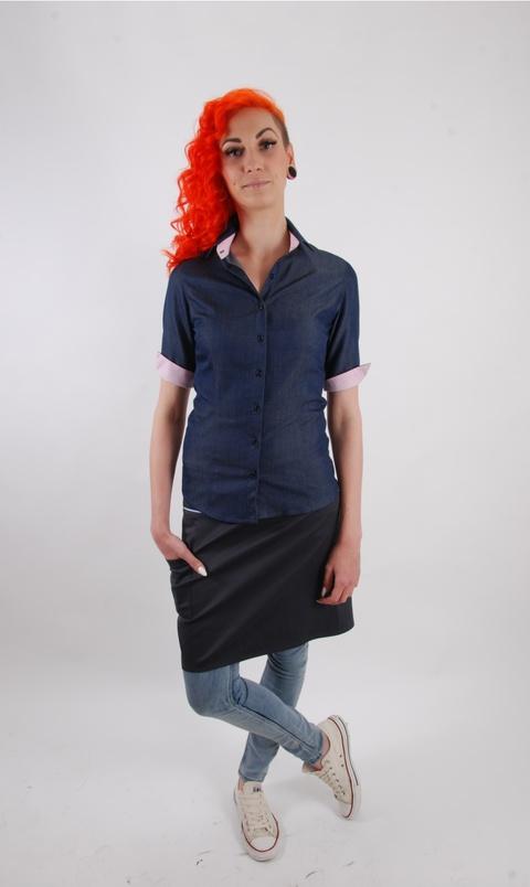 Košile dámská popelín barevná ELEGANCE