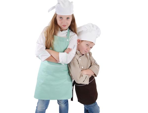 Dětská čepice a šátek pro kuchaře a kuchařky